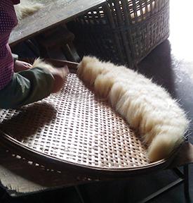 Uitsorteren van de verschillende lengtes haar