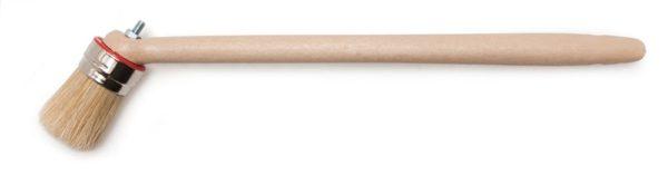 Bokkepoot, wit haar, met ergonomische steel 45 mm
